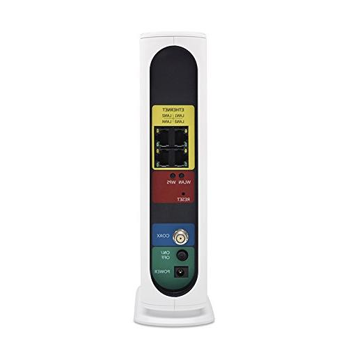 Motorola Gateway DOCSIS modem AC1900 Wi-Fi Router with Power MG7550, by Comcast, Charter Spectrum, Time Warner, Cox,