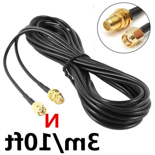 n rp sma coaxial extension cable rg174