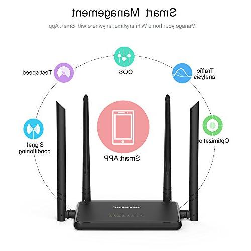 Wavlink with Gain 4X Antennas,Smart 2.4GHz with