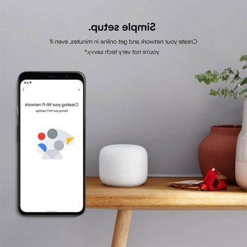 Google Wifi Router and Two Points Snow