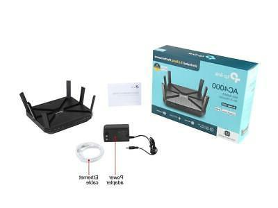TP-Link AC4000 Smart WiFi Router - Router, MU-MIMO, Advance