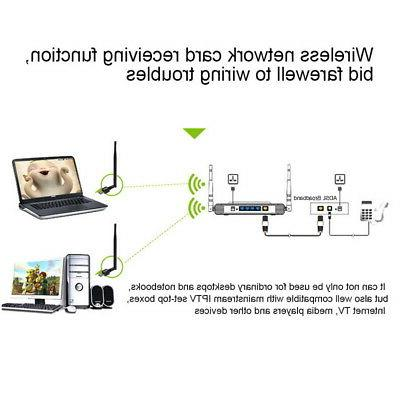 600Mbps Wifi Wireless LAN Card Port US