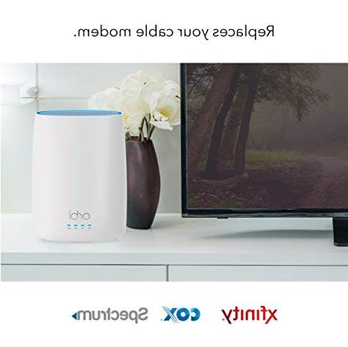 NETGEAR All-in-One Modem Whole Home Mesh-Ready WiFi - for Internet connectivity speeds up to Gbps feet,