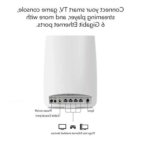 NETGEAR All-in-One Modem + Mesh-Ready WiFi for Internet connectivity speeds to Gbps Over feet,