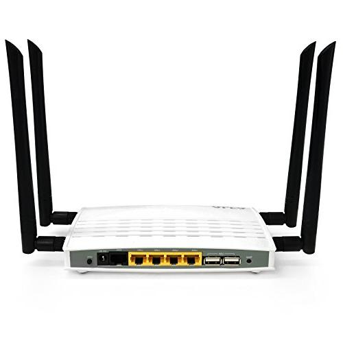 Alfa High-Power Router- 802.11ac Wide Range WiFi Router, Wireless to 1200Mbps Gigabit LAN/WAN HD Streaming, More
