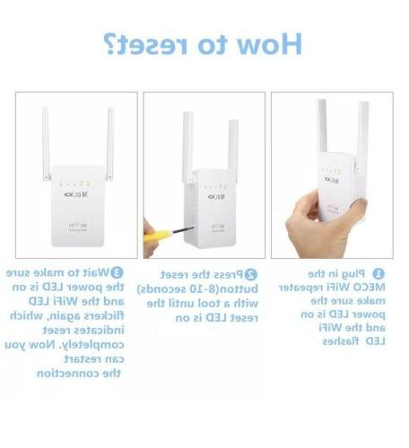 MECO Wireless Repeater Router 300Mbps Signal Amplifier