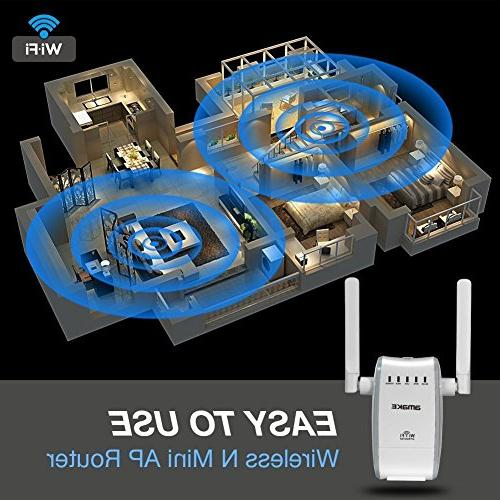 AMAKE Repeater Range Extender,WiFi Extender/Wireless Repeater/300Mbps 2.4G AP Speed Internet Signal Access Plug Coverage Antennas