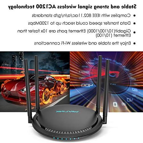 1200Mbps WAVLINK AC1200 2.4Ghz High Wireless Box with Long for PC