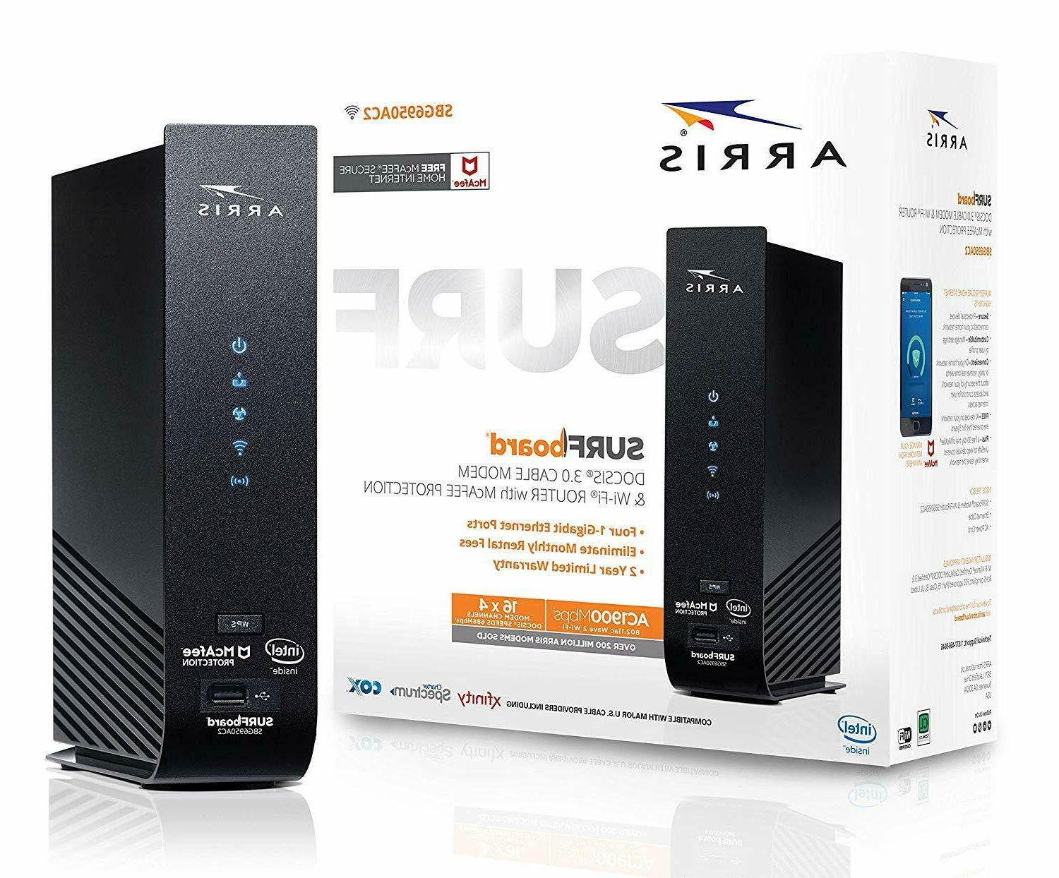 surfboard 16x4 cable modem ac1900 dual band