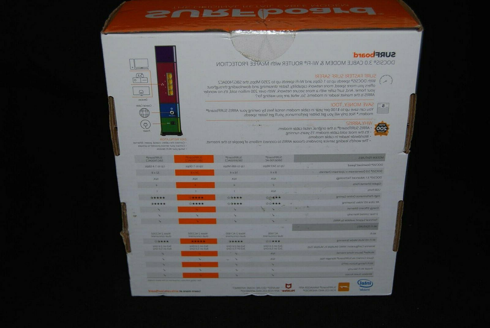 ARRIS SURFboard Ports Cable and Wi-Fi Router