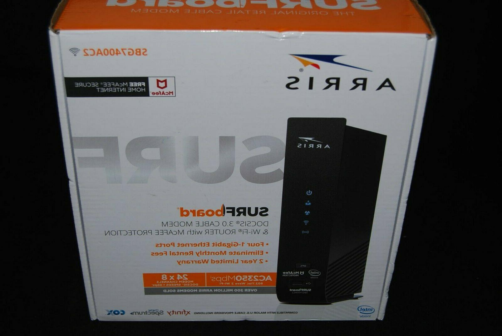 surfboard 2350mbps 4 ports 1000mbps cable modem