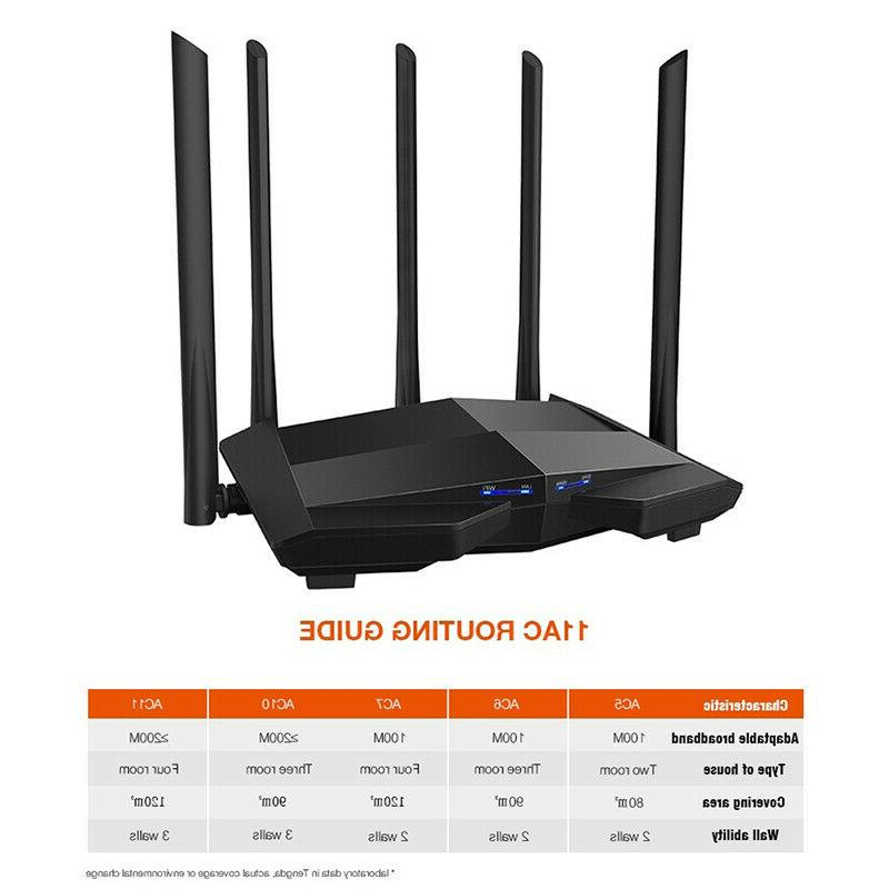 Tenda AC10 W15E 2.4GHz/5GHz 1200Mbps Dual Band Router Wireless Repeater