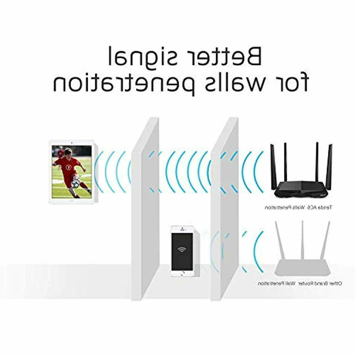 Tenda AC1200 Band WiFi Router, High Wireless Router with Sma