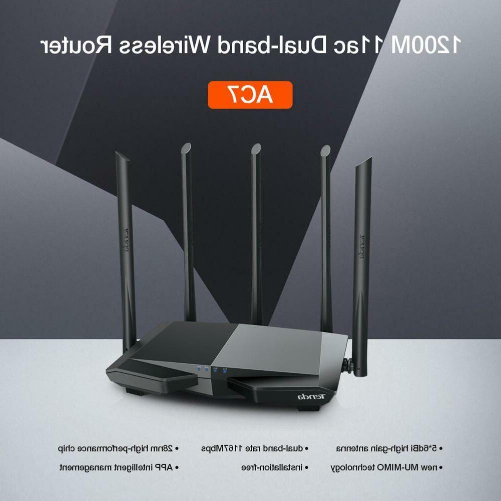 Tenda AC7 1200Mbps WiFi Router Band