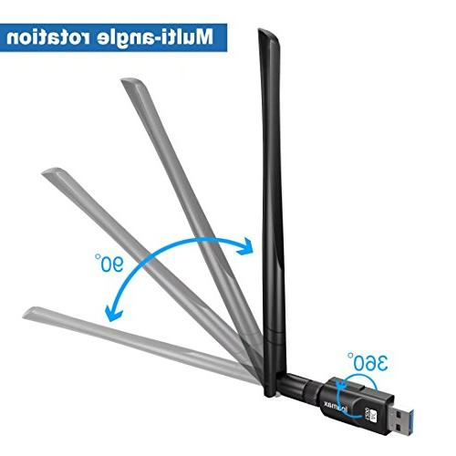 Inamax USB 1200Mbps, USB 3.0 Wireless Network 5dBi for Dual Band Windows