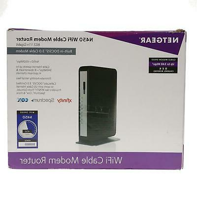 USE NETGEAR N450-100NAS Wi-Fi DOCSIS 3.0 Cable Modem Router in