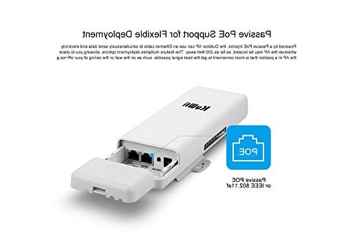 KuWFi 2 Pack Waterproof Wireless Outdoor CPE Outdoor 2KM Distance Outdoor Point CPE Router adapter Bridge for application