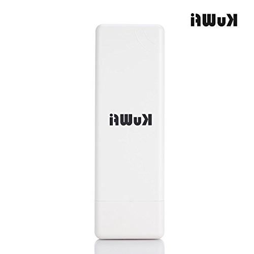 KuWFi 150Mbps Point, Waterproof Outdoor Bridge to point Outdoor Access CPE Router Long More WiFi Range