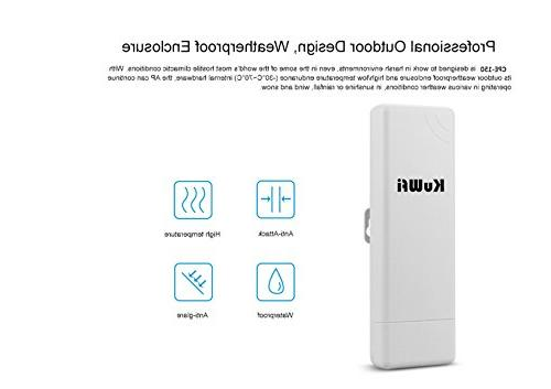 KuWFi Pack Wireless 1000mW Outdoor adapter WIFI for PTP PTMP