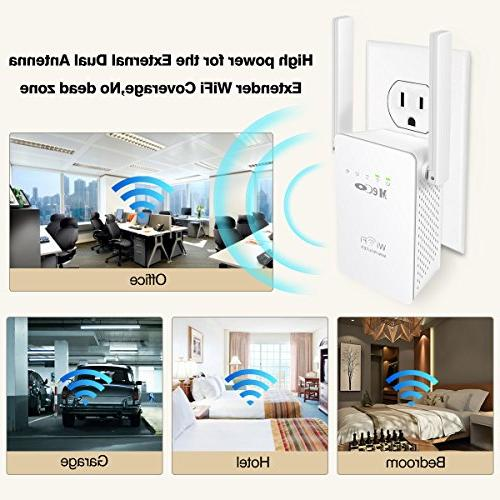 WiFi Extender, MECO Camera WiFi Range Smart Mini Repeater Signal Amplifier Gain Dual and Extend WiFi