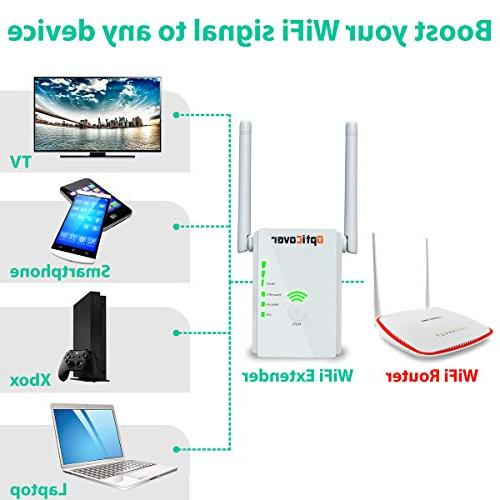 WiFi Extender with WPS Signal - Wireless Repeater 2.4GHz Band Mbps Network/Compatible to Home Alexa