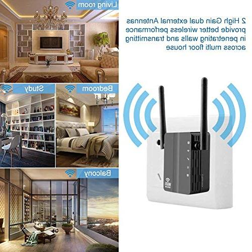 Ocamo 300Mbps Wi-Fi Range Repeater Internet Booster US