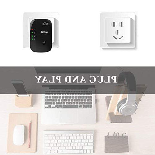 WiFi Extender Booster 300Mbps, Wireless in Min Router, & Play, Ethernet Port, Button,Complies 802.11 -360° Fully Coverage