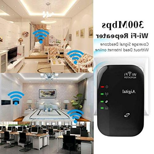 WiFi Extender Wireless Repeater Portable in Access Min & Play, Ethernet Port, Button,Complies with 802.11 -360°