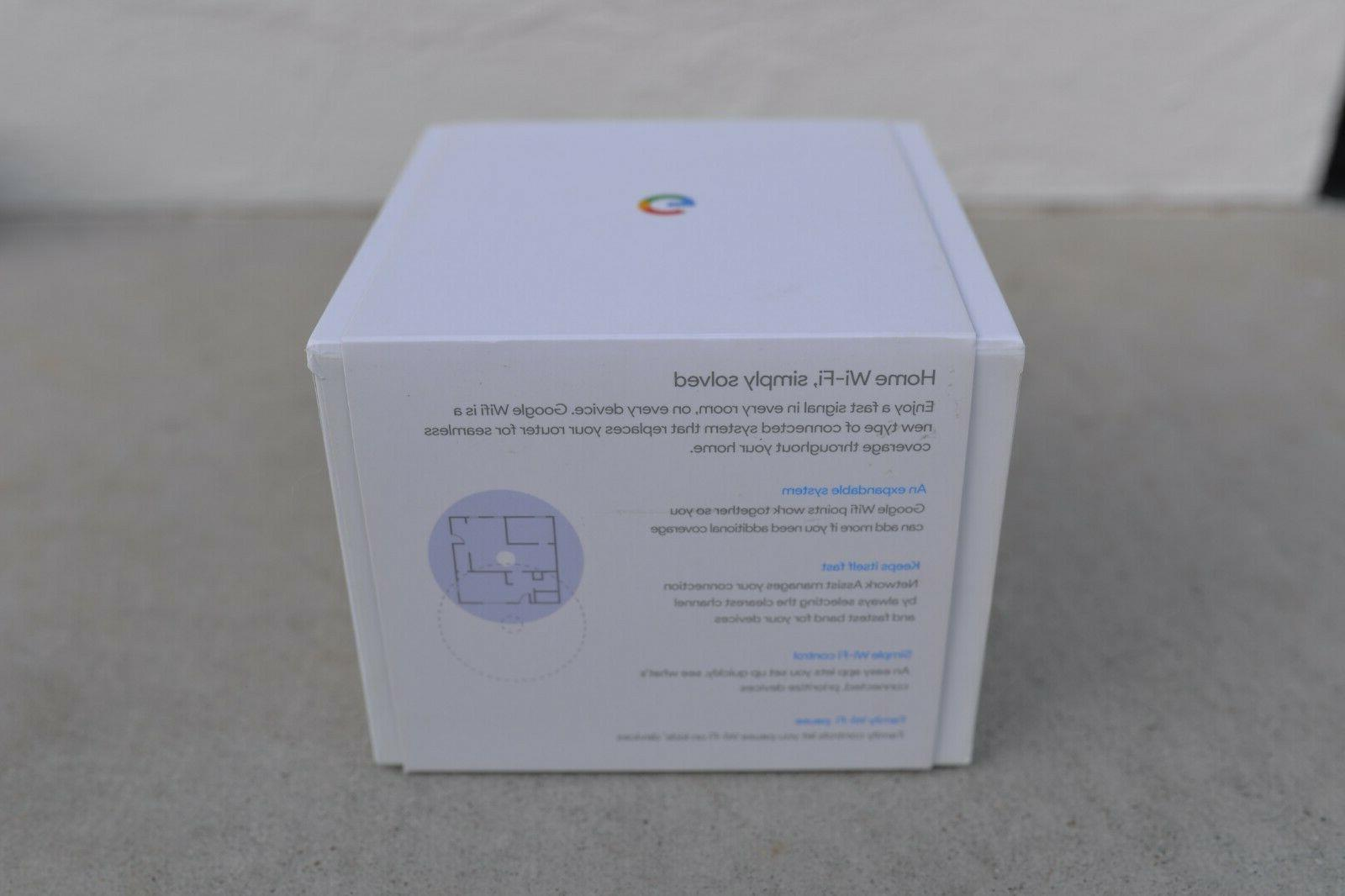 Google WiFi-Home Router/Access Point NLS-1304-25 US/Sealed