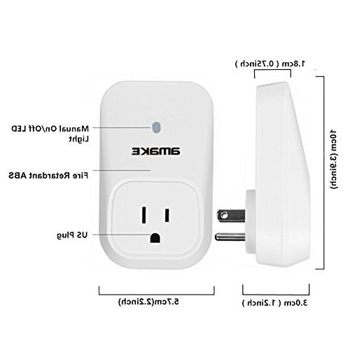 AMAKE WiFi Plug Outlet Electrical Controller iPhone iPad Android 3G GSM/GPRS/CDMA/2.4GHz