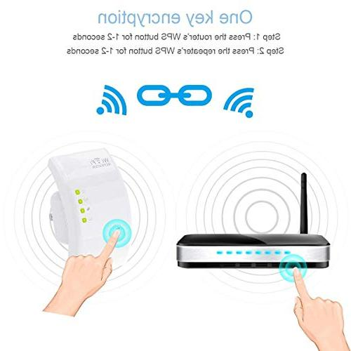 MECO Wireless Repeater 300Mbps Signal Supports Point/Router Network