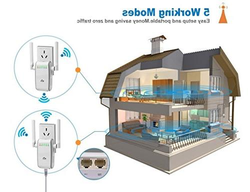 FDG WiFi Mini Wi-Fi Extender Point with Antennas, Extends to & Alexa Devices