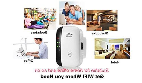 AMAKE WiFi Repeater/Internet Signal Amplifier 300Mbps,Mini AP Point High Gain Compatible Alexa, WiFi Smart Home Alexa Devices