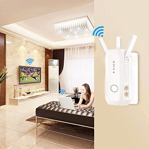WiFi 750Mbps Router Repeater Range Extender Access 5.0GHz/2.4GHz Internet Booster 5dBi WPS