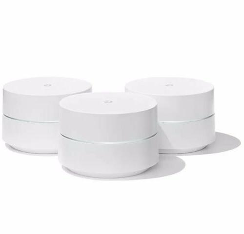 Google Wifi system 3-Pack Router replacement whole home cove