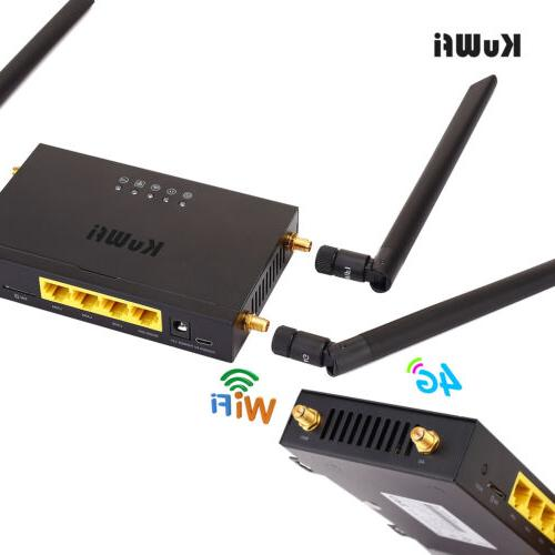 Wireless LTE CPE WIFI Router Cat 4 With 4pcs External