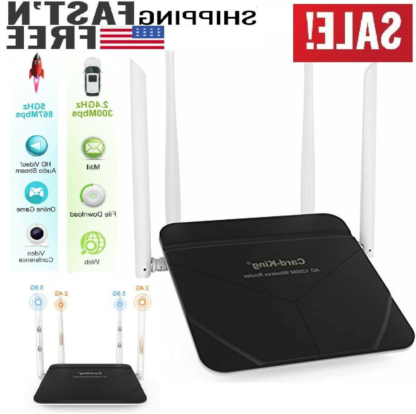 wireless router 1200mbps long range wifi router