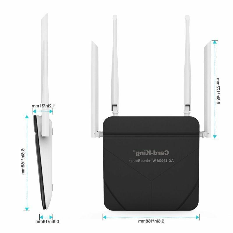 Wireless Router With Repeater Long Range Ac 1200Mbps High Speed Range