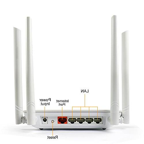 WISE TIGER Router AC1200Mbps High Dual 5GHZ/2.4GHZ Range With 5Dbi Antennas Fast, Just 3