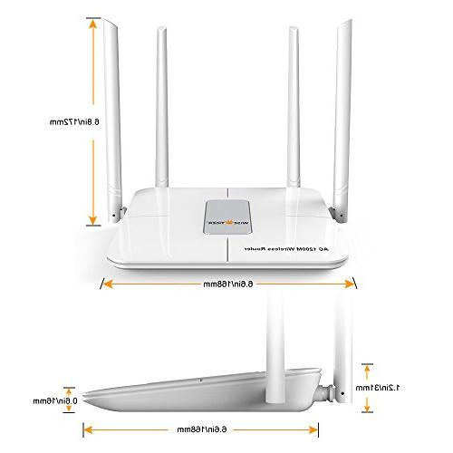 WISE TIGER Router Dual 5GHZ/2.4GHZ Range WIFI 5Dbi External Fast,