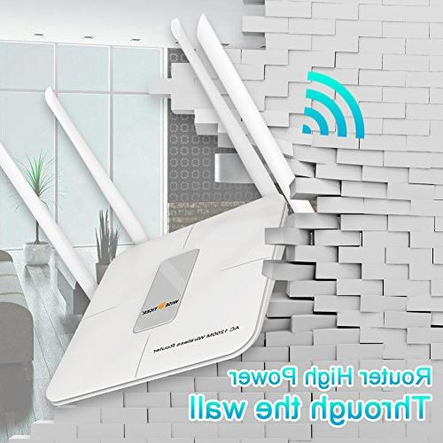 WISE TIGER Router High Dual Band Range WIFI Router 5Dbi Fast, Just