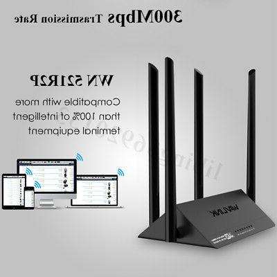 wn521r2p wireless wifi router 4x5dbi 300mbps extender