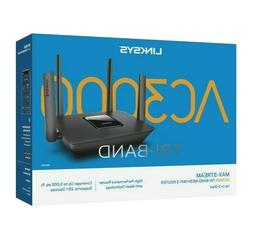 Linksys MAX-STREAM Tri-Band Mesh WiFi 5 Router AC3000 MR9000