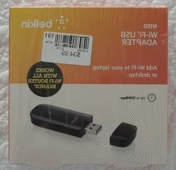 Belkin N150 Wireless USB Adapter with up to 150Mbps Link Rat