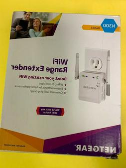 NETGEAR N300 Wall Plug Version Wi-Fi Range Extender  - NEW