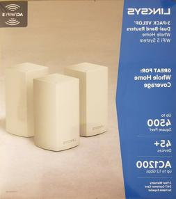 NEW - Linksys 3-pack Velop Home Dual Band Routers WiFi Syste