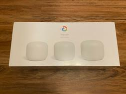 NEW Google Nest Wifi Router and 2 Points - Snow  AC2200 - GA