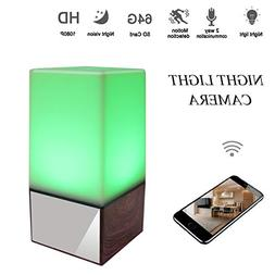 Hongsheng 1080P Night Light Hidden Spy Lamp Camera WiFi Baby