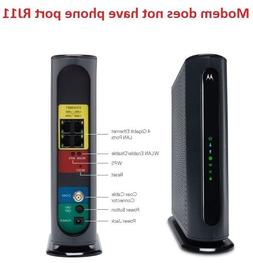 OPEN BOX Motorola MG7550 DOCIS 3.0 Cable Modem +AC1900 Wirel