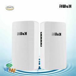 KuWFi Outdoor Router 2-Pack 2.4Ghz 300Mbps Wifi Repeater Poi